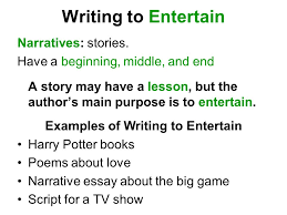author s purpose modes of writing ppt 5 examples