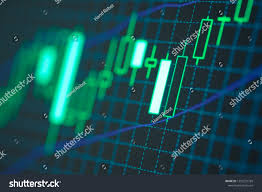 Forex Trading Candlestick Chart Business Charts Stock Photo