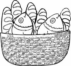 Small Picture Coloring Pages Of Fish And Bread Coloring Pages