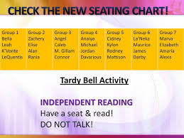 The New Group Seating Chart Check The New Seating Chart Ppt Download