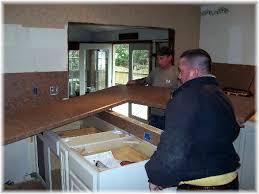 kitchen counter installation