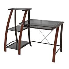 view a larger image of the z line designs triana wood and glass desk with