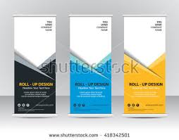 banner design template roll up banner template vector illustration download free vector