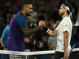Djokovic/pouille vs kyrgios/thiem tie break tens charity match 2018. Gm5xrna3yt9oqm