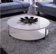 Modern White Round Coffee Table Gallery