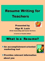 Cvresumewriting Forlecturer Resume Teachers