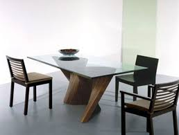 Dining Room  Mirrored Table Design With Round Glass Top Dining - Round modern dining room sets
