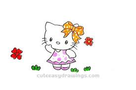 How To Draw A Hello Kitty Waving And Greeting Step By Step