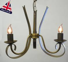 tower italian style wrought iron 3 light chandelier uk made