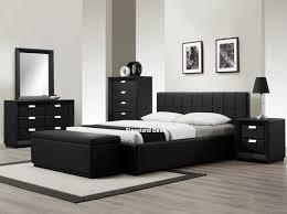 rossi luxury black leather bedroom furniture