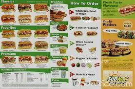 subway menu 2013.  Menu Subway To Menu 2013 N
