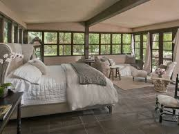 Pottery Barn Bedroom Cottage Guest Bedroom With French Doors Concrete Tile Zillow