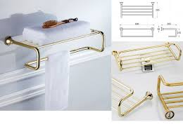 Bath hardware set Gold <b>Brass</b> Accessories Collection Towel Ring ...
