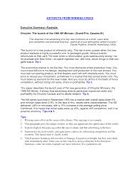 Executive Summary Cover Letter