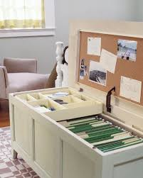diy office storage ideas. 20 unusual furniture hacks a storage chest turned into mini office perfect for diy ideas