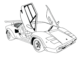 Printable Sports Car Colouring Pages Car Coloring Pages Printable