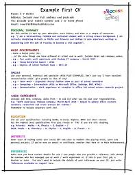 Resume Template For Students First Job First Resume Examples Teenage Resume  Template Teenage Resume