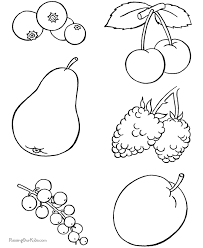 Small Picture Food Coloring Pages
