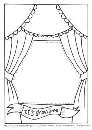 Theatre Stage Coloring Pages