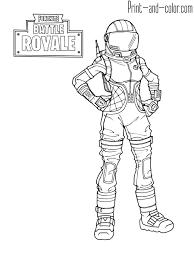 Fortnite Battle Royale Coloring Page Dark Vanguard Alex In 2019
