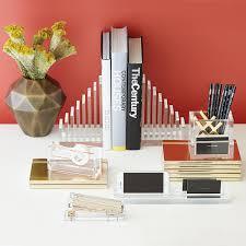 Russell + Hazel Acrylic Pencil Cup & Card Organizer