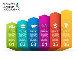 Vector Arrows Infographic Diagram Stock Vector Colourbox