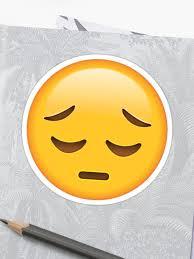 Sad Face Emoji Sticker