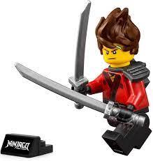 LEGO Ninjago Movie - Kai Minifigure (with Spiked Hair and Display stand)  70629