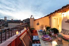 panoramic terrace inside the walls of lucca