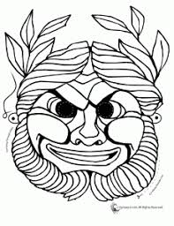 Small Picture greek masks coloring 3 231x300 Greek Masks Printables and