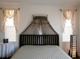 metal iron wall teester bed canopy dry crown hardware over bed or window