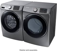 samsung steam washer and dryer. Fine And Samsung 75 Cu Ft 10Cycle Electric Dryer With Steam Silver DVE45M5500P   Best Buy Inside Washer And