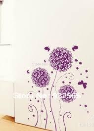 Purple Flower Wallpaper For Bedroom Home Decal Purple Flower Balls Sticker Bedroom Home Decal