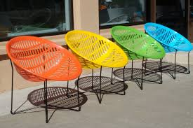 trendy outdoor furniture. adorable design of contemporary outdoor furniture in colorful curve chairs with iron legs trendy a