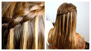 Easy Hair Style For Girl diy dutch waterfall braid cute girls hairstyles youtube 7670 by wearticles.com
