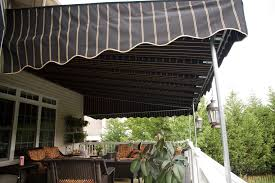 wall mounted sunbrella deck awning cooper black stripe deck awning outdoor living stationary canopy lancaster pa
