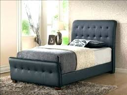 leather xl twin bed with storage