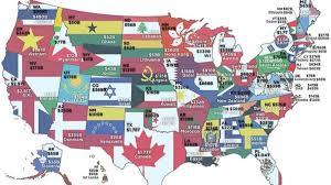 เปรียบเทียบเศรษฐกิจของแต่ละรัฐในสหรัฐฯ กับประเทศอื่นในโลก
