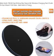 Bản Quốc Tế] Đế Sạc Không Dây Xiaomi Mi Wireless Charging Pad Chuẩn Qi Sạc  Nhanh 10W Max - Bảo Hành 6 Tháng