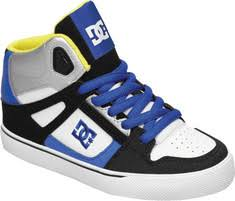 dc shoes high tops blue and black. dc shoes - spartan hi (children\u0027s) black/white/yellow dc high tops blue and black u