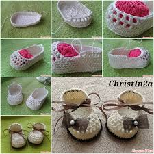 Crochet Baby Shoes Pattern Inspiration Crochet Pretty Baby Bootie With Ribbon Tie