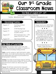 Free Teacher Newsletter Templates Editable Newsletter Templates Grades 1 2 Ideas Resources Elementary