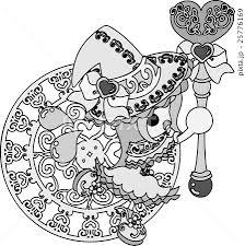 お洒落で可愛い魔法使いの女の子のイラストのイラスト素材 25776169