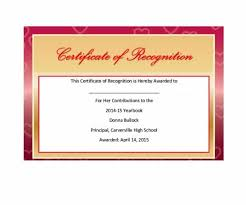 Sample Of Appreciation Certificates 50 Free Certificate Of Recognition Templates Printable