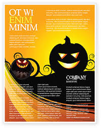 Word Halloween Templates Halloween Is Near Flyer Template Background In Microsoft Word