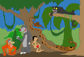 the jungle book cast as friends scratching by sammyd ions