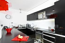 Extraordinary Red Black And White Kitchen Ideas 48 For Your Interior Decor  Minimalist with Red Black