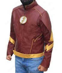 the flash season 3 barry allen leather jacket