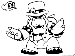 Super Mario Odyssey Coloring Pages Bowser Free Printable Coloring