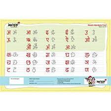 Amazon Com Laminated Marathi Alphabet Writing Chart